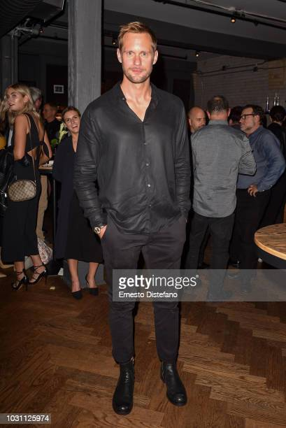 Alexander Skarsgard attends the 'A Million Little Pieces' Cocktail Party hosted by RBC during 2018 Toronto International Film Festival at RBC House...
