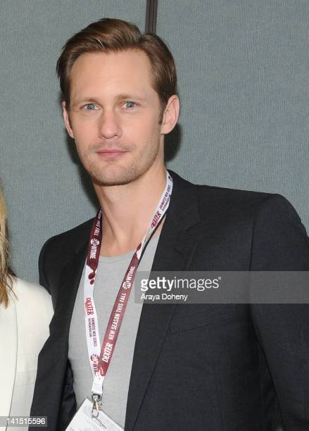 Alexander Skarsgard attends the 'Battleship' conference at WonderCon 2012 Day 1 at Anaheim Convention Center on March 17 2012 in Anaheim California