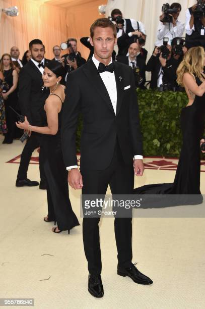 Alexander Skarsgard attends the Heavenly Bodies Fashion The Catholic Imagination Costume Institute Gala at The Metropolitan Museum of Art on May 7...