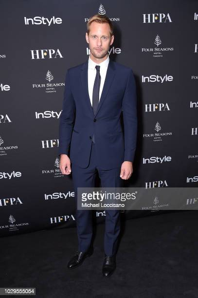 Alexander Skarsgard attends The Hollywood Foreign Press Association and InStyle Party during 2018 Toronto International Film Festival at Four Seasons...