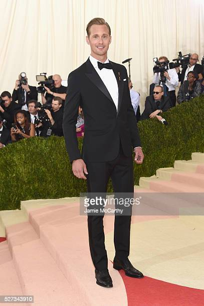 Alexander Skarsgard attends the 'Manus x Machina Fashion In An Age Of Technology' Costume Institute Gala at Metropolitan Museum of Art on May 2 2016...