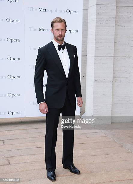 Alexander Skarsgard attends the Metropolitan Opera 20152016 season opening night of Otello at The Metropolitan Opera House on September 21 2015 in...