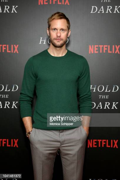 Alexander Skarsgard attends the NY screening of Netflix's Hold the Dark on September 26 2018 in New York City