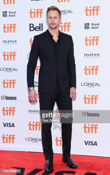 Alexander Skarsgard attends the premiere of 'Hold The Dark' during the 2018 Toronto International Film Festival at Princess of Wales Theatre on...