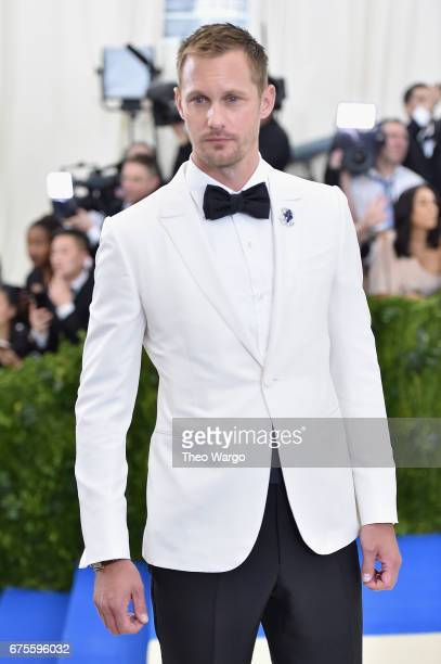 Alexander Skarsgard attends the 'Rei Kawakubo/Comme des Garcons Art Of The InBetween' Costume Institute Gala at Metropolitan Museum of Art on May 1...