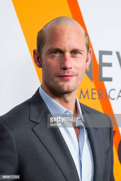 Alexander Skarsgard attends the Volez Voguez Voyagez Louis Vuitton Exhibition Opening on October 26 2017 in New York City