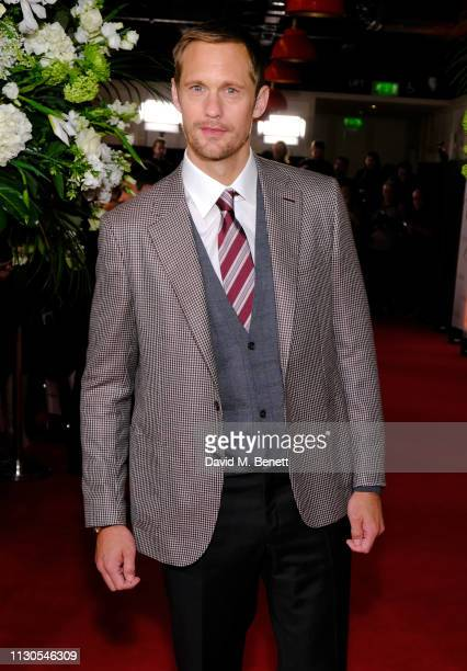 Alexander Skarsgard attends the World Premiere of 'The Aftermath' at Picturehouse Central on February 18 2019 in London England