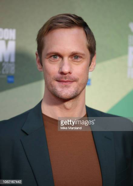 Alexander Skarsgard attends the World Premiere of 'The Little Drummer Girl' during the 62nd BFI London Film Festival on October 14 2018 in London...