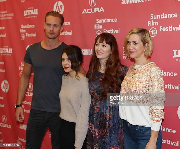 Alexander Skarsgard Bel Powley Director Marielle Heller and Kristen Wiig attend 'The Diary Of A Teenage Girl' premiere during the 2015 Sundance Film...