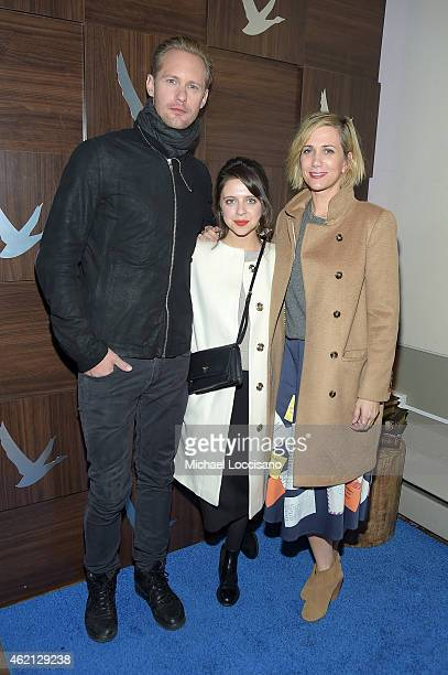 Alexander Skarsgard, Bel Powley, Kristen Wiig at The Diary of a Teenage Girl Cast Party at the GREY GOOSE Blue Door during Sundance on January 24,...