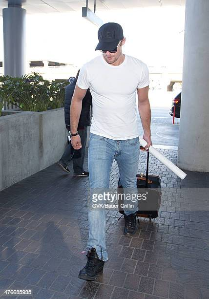 Alexander Skarsgard is seen at LAX airport on March 04 2014 in Los Angeles California