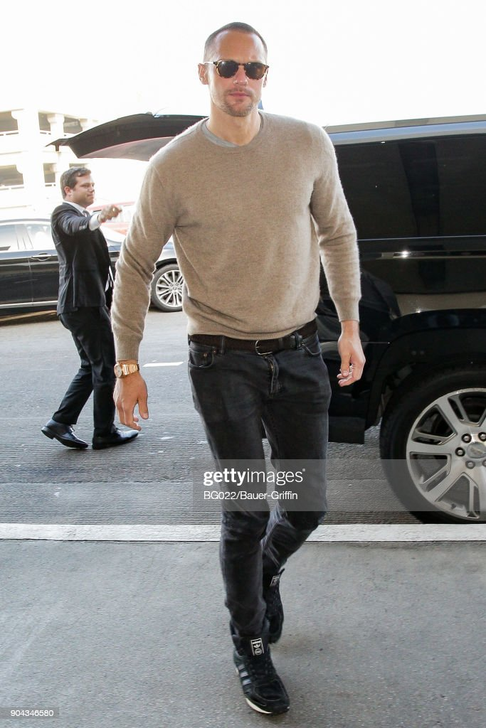 Alexander Skarsgard is seen on January 12, 2018 in Los Angeles, California.