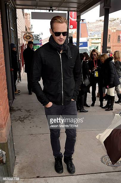 Alexander Skarsgard is seen on January 23 2015 in Park City Utah