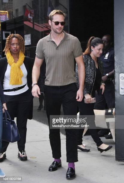 Alexander Skarsgard is seen on September 27 2018 in New York City
