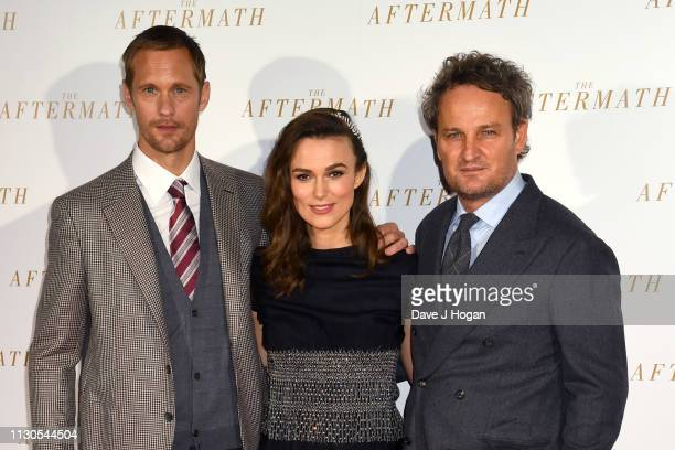 Alexander Skarsgard Keira Knightley and Jason Clarke attend 'The Aftermath' World Premiere held at The Picturehouse Central on February 18 2019 in...