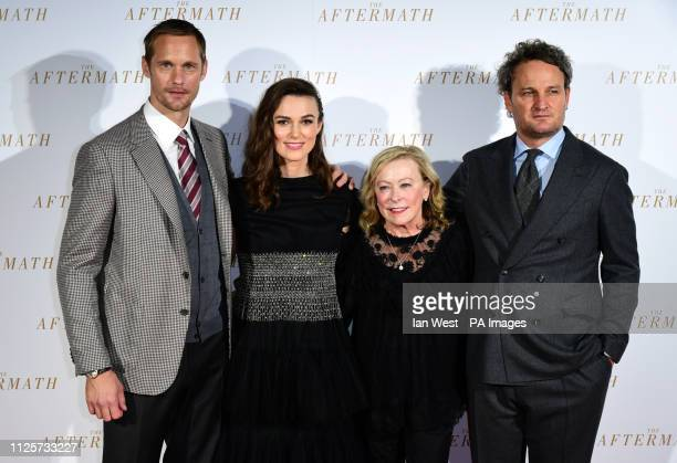 Alexander Skarsgard Keira Knightley guest and Jason Clarke attending the world premiere of The Aftermath held at the Picturehouse Central Cinema...