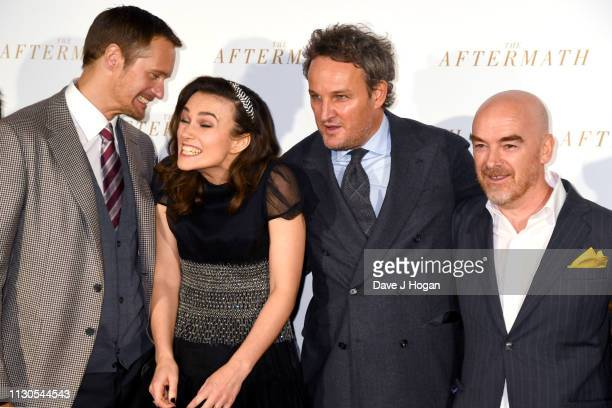 Alexander Skarsgard Keira Knightley Jason Clarke and Rhidian Brook attend 'The Aftermath' World Premiere held at The Picturehouse Central on February...