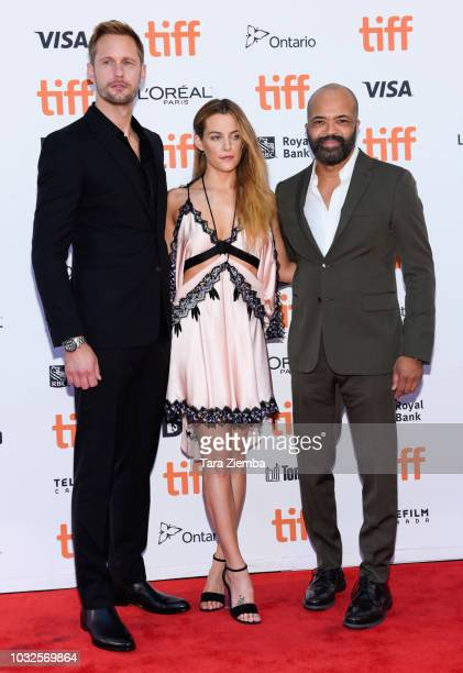 Alexander Skarsgard Riley Keough and Jeffrey Wright attend the premiere of 'Hold The Dark' during the 2018 Toronto International Film Festival at...