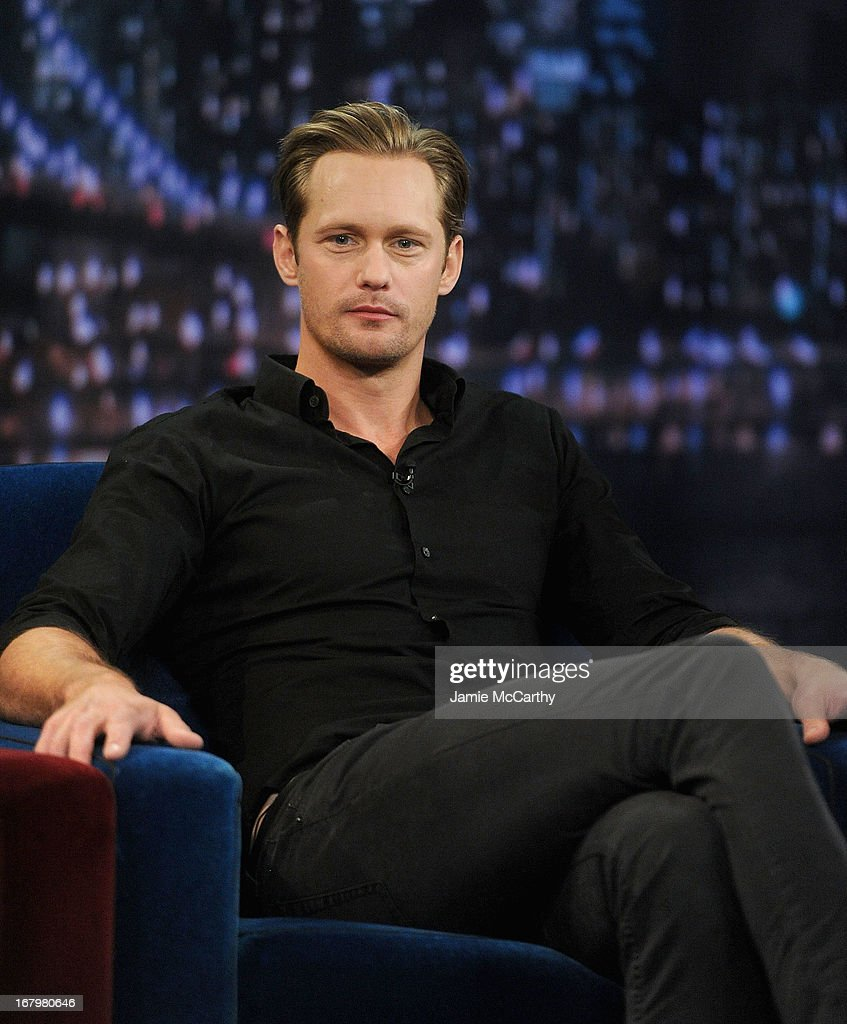 Alexander Skarsgard visits 'Late Night With Jimmy Fallon' at Rockefeller Center on May 3, 2013 in New York City.