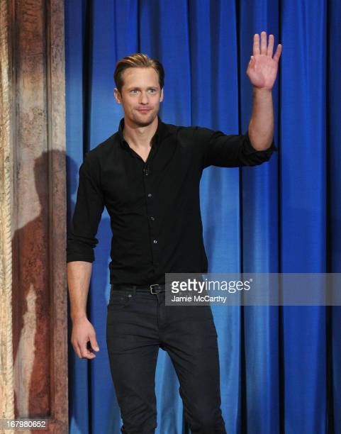 Alexander Skarsgard visits 'Late Night With Jimmy Fallon' at Rockefeller Center on May 3 2013 in New York City