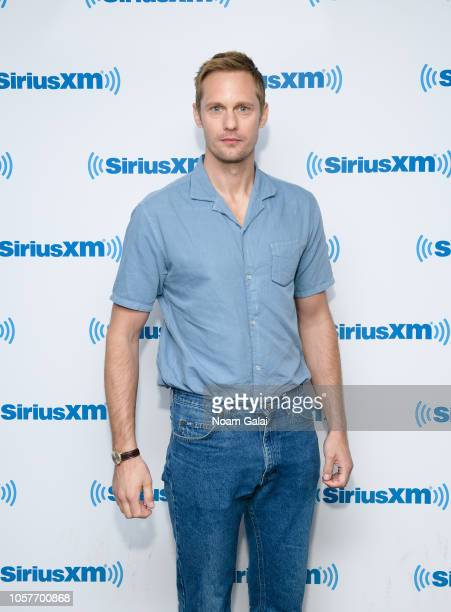 Alexander Skarsgard visits the SiriusXM Studios on November 5 2018 in New York City