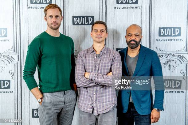 Alexander Skarsgardd Jeremy Saulnier and Jeffrey Wright discuss Hold The Dark with the Build Series at Build Studio on September 26 2018 in New York...