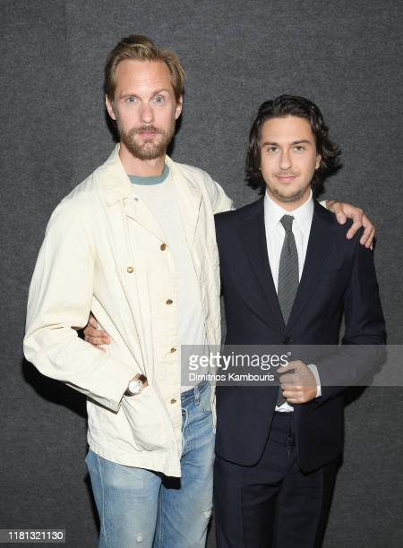 """Alexander Skarsgård and Nat Wolff attend """"The Kill Team"""" New York Screening at Landmark 57 on October 15, 2019 in New York City."""