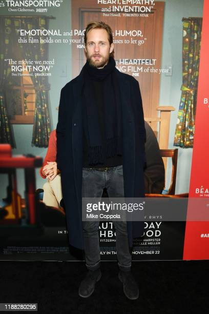"""Alexander Skarsgård attends """"A Beautiful Day In The Neighborhood"""" New York Screening at Henry R. Luce Auditorium at Brookfield Place on November 17,..."""