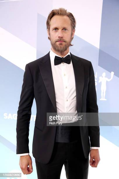 Alexander Skarsgård attends the 26th Annual Screen ActorsGuild Awards at The Shrine Auditorium on January 19, 2020 in Los Angeles, California.