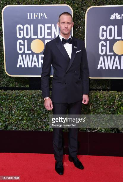 Alexander Skarsgård attends The 75th Annual Golden Globe Awards at The Beverly Hilton Hotel on January 7 2018 in Beverly Hills California