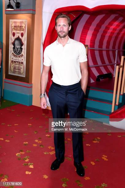"Alexander Skarsgård attends the ""IT Chapter Two"" European Premiere at The Vaults on September 02, 2019 in London, England."