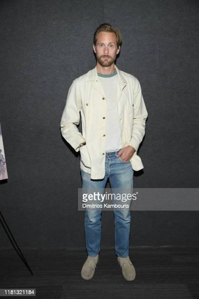 """Alexander Skarsgård attends """"The Kill Team"""" New York Screening at Landmark 57 on October 15, 2019 in New York City."""