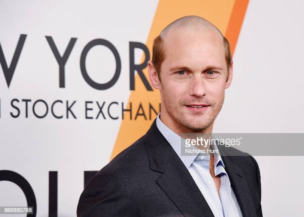 Alexander Skarsgrd attends the Volez Voguez Voyagez Louis Vuitton Exhibition Opening on October 26 2017 in New York City