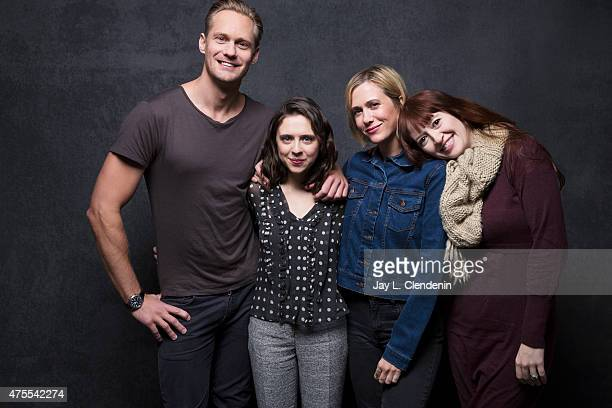 Alexander Skarsgård Bel Powley Kristen Wiig and Marielle Heller from the film 'The Mask You Live In' pose for a portrait for the Los Angeles Times at...
