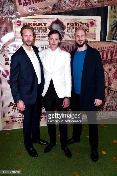 Alexander Skarsgård Bill Skarsgård and Gustaf Skarsgård attend the IT Chapter Two European Premiere at The Vaults on September 02 2019 in London...