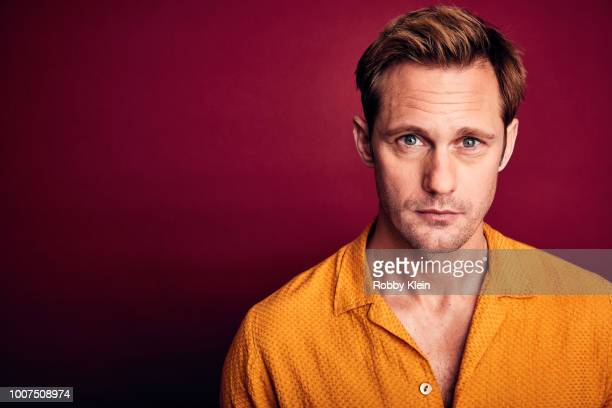 Alexander Skarsgård of AMC's of 'The Little Drummer Girl' poses for a portrait during the 2018 Summer Television Critics Association Press Tour at...