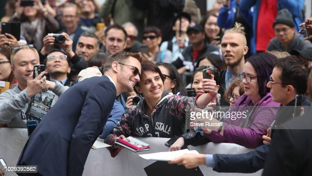 TORONTO ON SEPTEMBER 8 Alexander Skarsgård on the red carpet of the world premiere of the movie The Hummingbird Project at the Toronto International...