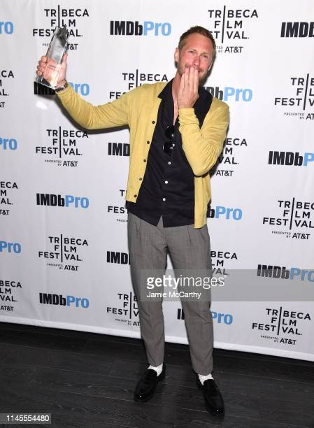 Alexander Skarsgård receives the IMDb STARmeter Award at The 2019 Tribeca Film Festival After Party for The Kill Team hosted by IMDbPro at The...