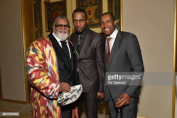 Alexander Smalls actor Leon Robinson and guest attends HSA Masquerade Ball on October 23 2017 at The Plaza Hotel in New York City
