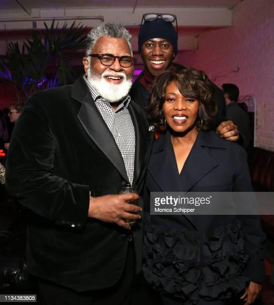 Alexander Smalls J Alexander aka Miss J and Alfre Woodard attend 'Juanita' Special Screening on March 07 2019 in New York City