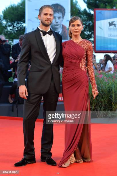 Alexander Smurfit and Victoria Bonya attend the '99 Homes' Premiere during the 71st Venice Film Festival at Sala Grande on August 29 2014 in Venice...