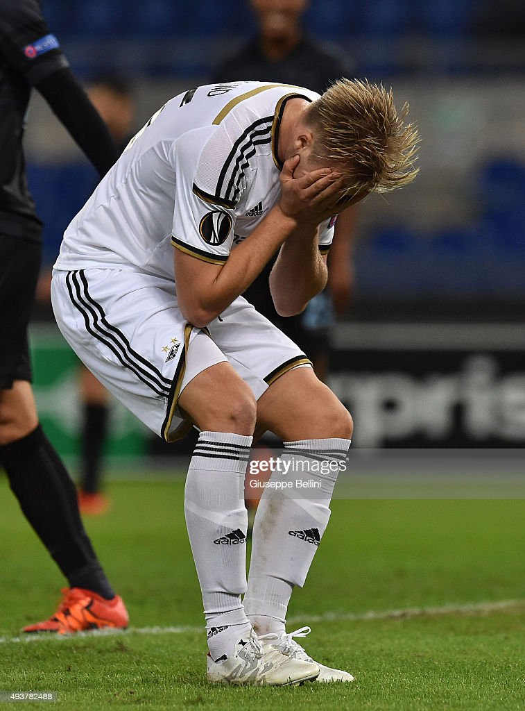 Alexander Soderlund of Rosenborg BK during the UEFA Europa League group G match between SS Lazio and Rosenborg BK at Stadio Olimpico on October 22, 2015 in Rome, Italy.