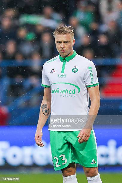 Alexander Soderlund of Saint-Etienne during the Ligue 1 match between SM Caen and AS Saint-Etienne at Stade Michel D'Ornano on October 23, 2016 in...
