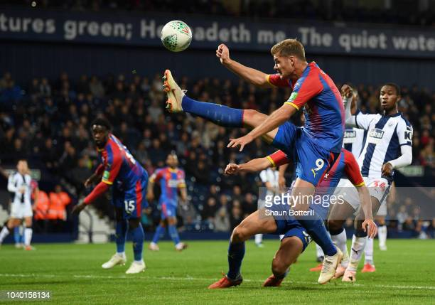 Alexander Sorloth of Crystal Palace controls the ball during the Carabao Cup Third Round match between West Bromwich Albion and Crystal Palace at The...