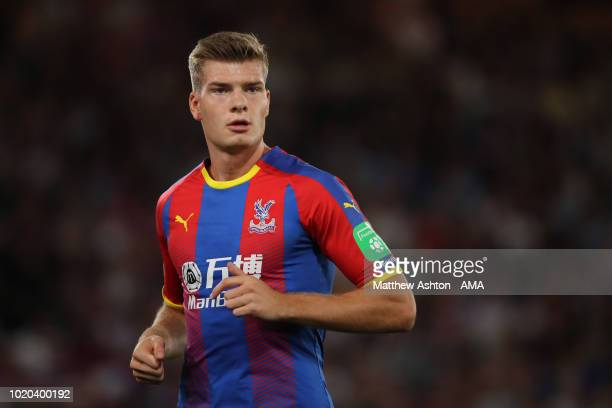 Alexander Sorloth of Crystal Palace during the Premier League match between Crystal Palace and Liverpool FC at Selhurst Park on August 20 2018 in...