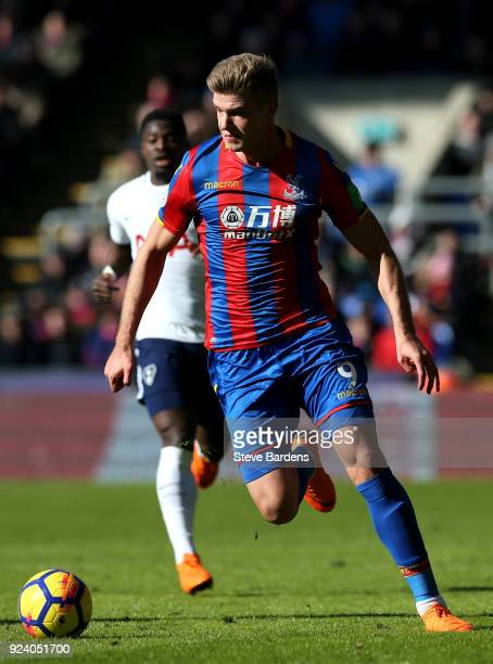 Alexander Sorloth of Crystal Palace in action during the Premier League match between Crystal Palace and Tottenham Hotspur at Selhurst Park on...