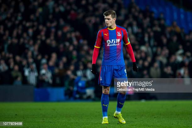 Alexander Sorloth of Crystal Palace looks on during the FA Cup Third Round match between Crystal Palace FC and Grimsby Town at Selhurst Park on...