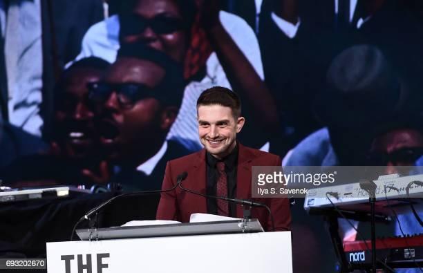 Alexander Soros speaks during 2017 Gordon Parks Foundation Awards Gala at Cipriani 42nd Street on June 6 2017 in New York City
