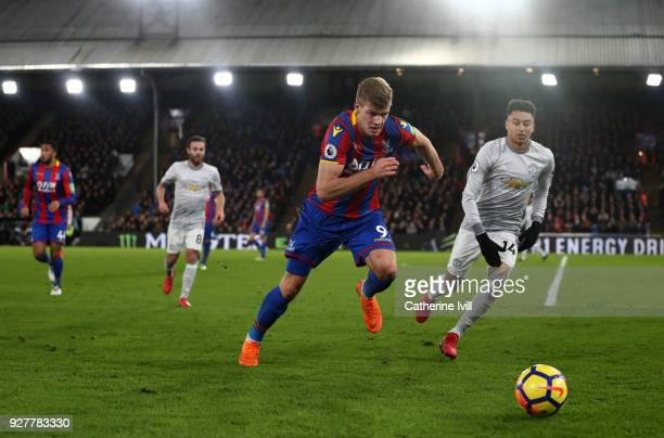 Alexander Sortloth of Crystal Palace during the Premier League match between Crystal Palace and Manchester United at Selhurst Park on March 5 2018 in...