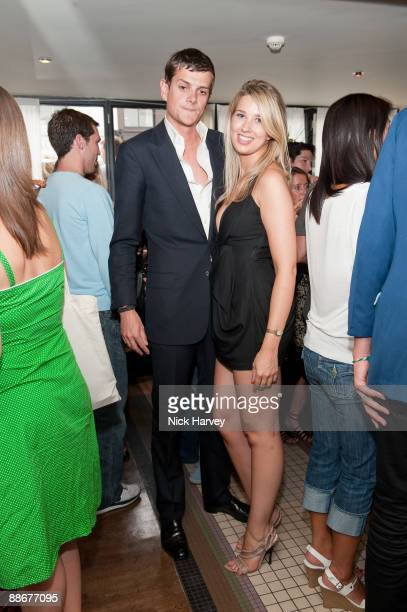 Alexander SpencerChurchill and Fin's founder Alexandra Finlay attend the launch of online footwear label Fin's at Tini on June 24 2009 in London...